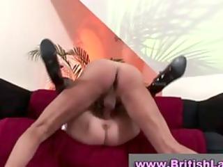 cougar english girl takes multiple orgasm