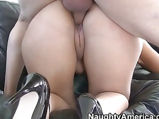 lusty and slutty latino babe gives deep warm cock