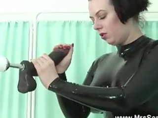mature in latex sucks and gangbangs sex machine