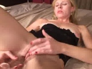 sweetheart lady clit slapping plastic cock gang