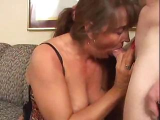 excited mature milf licks and gang-bangs a fresh