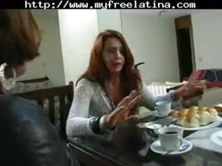 cougar brazilian redheaded woman obtains hammered