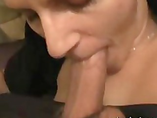 my wife nina milks my dick with oral and boobs