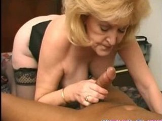 naughty elderly acquires covered into jizz