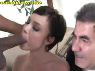 colorless hubby watches his super woman obtain