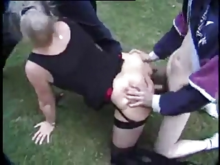 french older danielle - expose air gang bang
