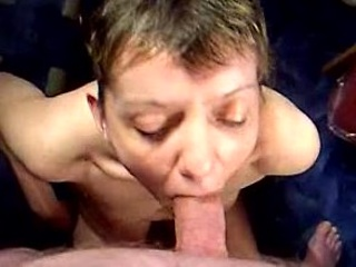 mature babe inexperienced fellatio and facial