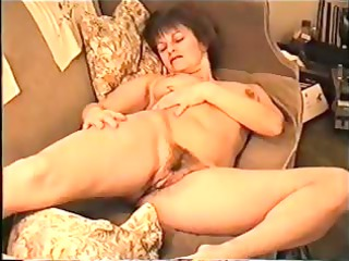 huge tit lady exposes bushy bitch