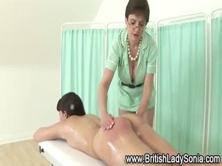 femdom older chick sandy spanking chick