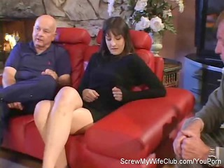hubby leabes during his swinger woman screws a