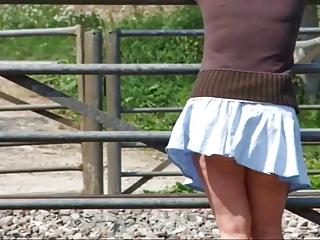 woman walking around wiltshire