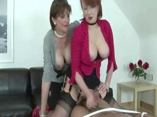 grown-up domina make sub cum all over breast