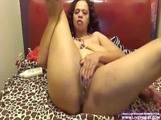 filthy dark cougar babe nympho plays and screams