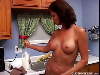 wonderful lady vonda videl worships to own wet