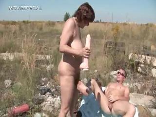 busty woman takes her hirsute muf gangbanged