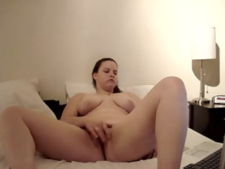 ex lady misty pushing dildo