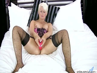 blond older fuck vibrator masturbation