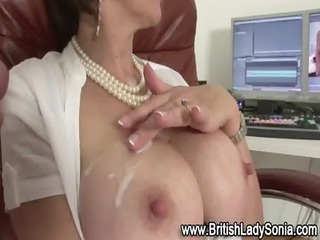 busty older girl sandy acquires a cumshots