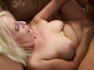 bigtits old getting pierced by her granny lover
