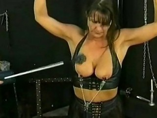 bdsm session with super cougar slave part 4