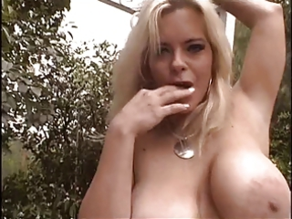 two grownup whores with huge tits finger their