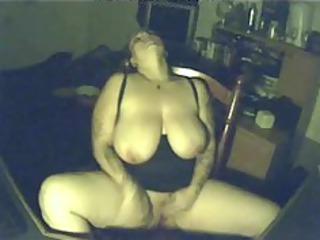 my hot girl having sweet period at pc. hidden cam