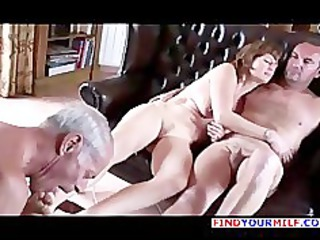 old cuckold lick both wife and master foot