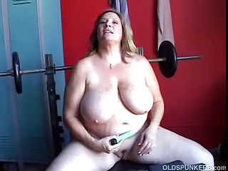 beautiful plump young lady has some giant boobs