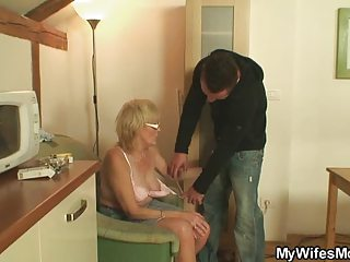 muscled man piercing his wifes milf