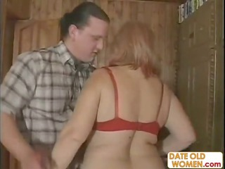 russian g]granny with brown pantyhose