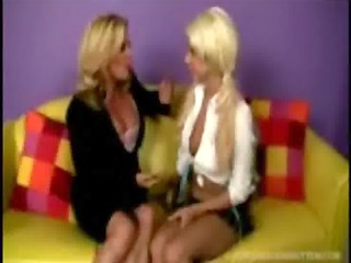coed is tought kitty tricks from a horny chick