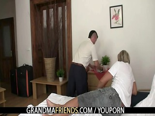 granny duo lure him inside triple