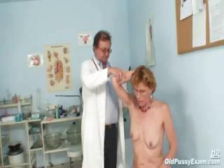 older chick mila goes for an exam and shows off