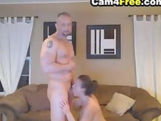 deepthroating angel made him clean cream inside