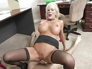 busty albino lady doing fellatio and obtaining