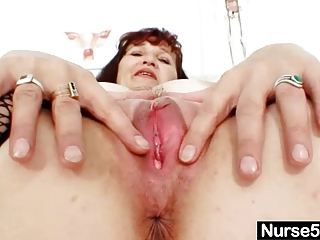 ginger grandma zita internal vagina cervix shots