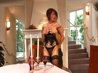 slutty mature girl is sucking rich guy's cock and