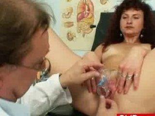 red-haired woman vagina checkup at kinky hospital