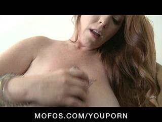 huge boob & ass albino & brunette chick