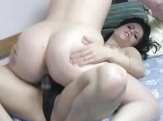 pale veronica piercing a milf with her strapon