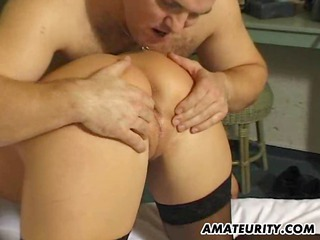 fresh grown-up lady inside a three with double cum
