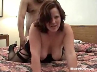 bbw wife enjoys 2 cocks during hubby is taping
