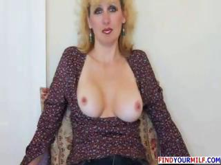 hot older lady gives dick sucking and gets facial