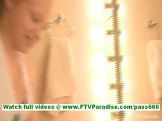 bonaja hot brunette lady having dinner in bar and