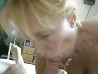 albino mature lick off at home
