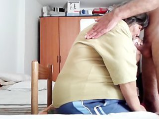 my elderly lover sucks my dick