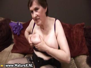 sixty moment elderly lady getting nude of her