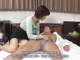 entreats woman and son with plastic cock part1