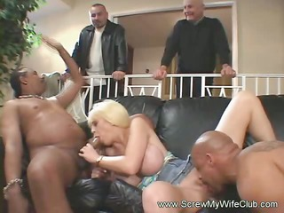 interracial arse three with pale swinger maiden