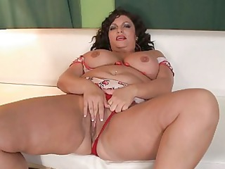busty mature babe fatty obtains pleased on ashen